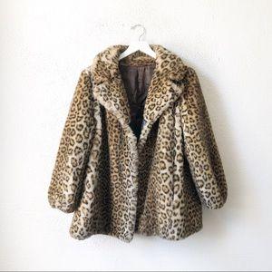 Vintage 60's Sportowne Faux Leopard Fur Coat 6